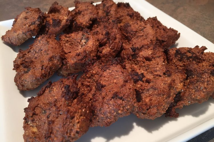Kakaovo-oříškové sušenky s chia semínky