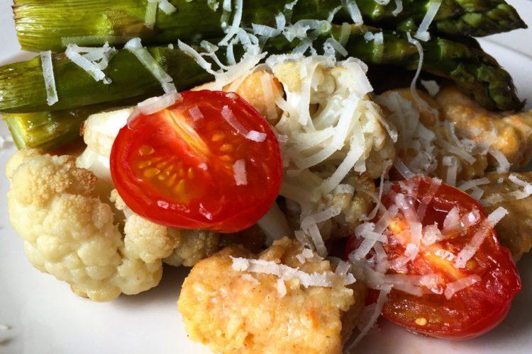 Domácí zdravé noky s pečenou zeleninou